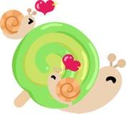相当小的蜗牛 库存图片