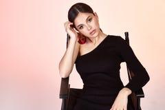 相当性感的夫人时装模特儿魅力样式美丽的妇女stu 库存照片