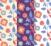 相当手拉的五颜六色的花纹花样集合 免版税库存图片