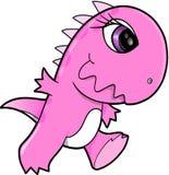 相当桃红色恐龙 库存照片