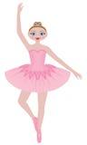 相当桃红色芭蕾舞女演员 免版税库存图片