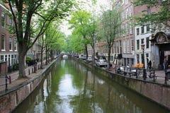 相当河在阿姆斯特丹 免版税库存照片