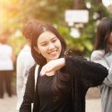 相当泰国的女孩 免版税库存图片