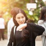 相当泰国的女孩 库存照片