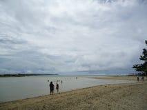 相当海滩 库存照片