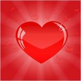 相当红色心脏为情人节 免版税图库摄影