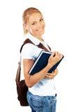 相当聪明的学校女孩 免版税图库摄影