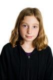 相当蓝眼睛的女孩纵向 免版税图库摄影