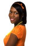 相当青少年黑人的女孩 免版税库存图片
