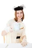相当青少年的服务茶 库存图片