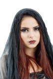 相当年轻红头发人巫婆 库存图片