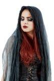 相当年轻红头发人巫婆 库存照片