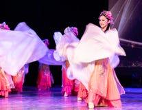 相当Huadan 4 -舞蹈部门中国古典舞蹈毕业展示  库存照片