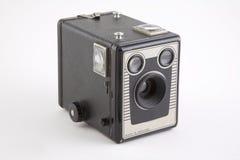 相机盒葡萄酒 库存照片