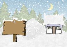 相框冬天 向量例证