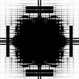 相称对象的不规则的样式互联了摘要 库存例证