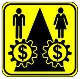 相等的工作均等付款 免版税库存图片