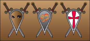 盾和剑 库存图片