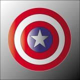 盾美国上尉 图库摄影