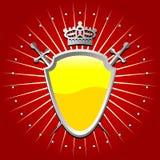 盾黄色 免版税图库摄影