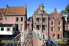 省的弗里斯,荷兰历史的阿平厄丹 免版税库存照片