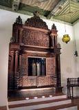 从省的犹太教堂科钦(印度) 存贮内阁T 库存照片