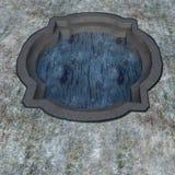 看一个小水池或储水箱 免版税库存图片