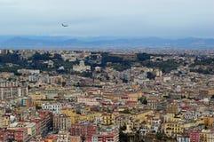 看下来在从Castel Sant艾蒙的那不勒斯 库存图片