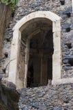 看从从贝内代蒂尼di圣Nicolo L'竞技场修道院的一座流动桥梁的猫  免版税库存图片