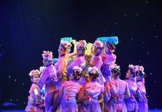 看后面杜鹃花simsii中国民间舞 库存照片