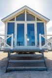 看在海的海滩小屋 库存图片