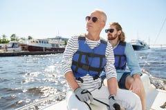 看在航行游览时的游人 免版税库存图片