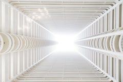看在高层建筑物的光 免版税库存照片