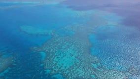 看在Whitsundays的礁石在从飞机的澳大利亚 影视素材