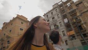 看巴伦西亚,西班牙的建筑学游人 股票录像