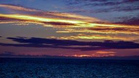看往巴哈的Puerto Penasco日落 图库摄影