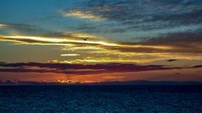 看往巴哈2的Puerto Penasco日落 库存照片