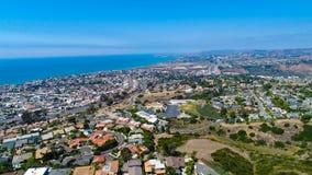 看往达讷论点的空中圣克莱芒特 库存照片