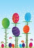 看板卡五颜六色的复活节 免版税库存图片