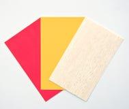 看板卡五颜六色的纸张 免版税库存照片