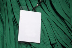 看板卡会议环境绿色id短绳 免版税库存图片