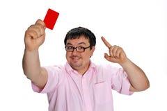 看板卡信用调查员年轻人 库存图片