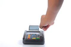 看板卡充电赊帐 免版税库存图片