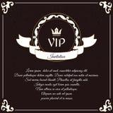 看板卡典雅的vip 它在与叶子装饰品的维多利亚女王时代的样式被执行 适用于邀请设计  库存照片