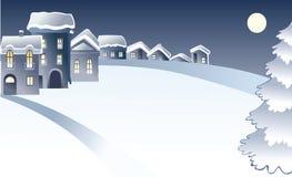 看板卡冬天 向量例证