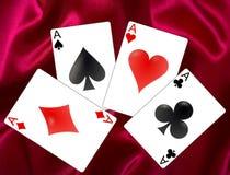 看板卡冲洗打皇家的扑克 库存照片