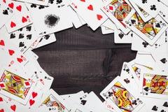 看板卡冲洗打皇家的扑克 免版税库存照片
