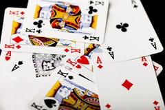 看板卡冲洗打皇家的扑克 库存图片