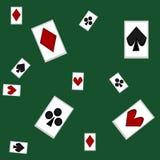 看板卡冲洗打皇家的扑克 皇族释放例证