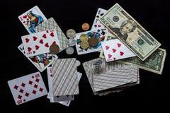 看板卡冲洗打皇家的扑克 免版税库存图片